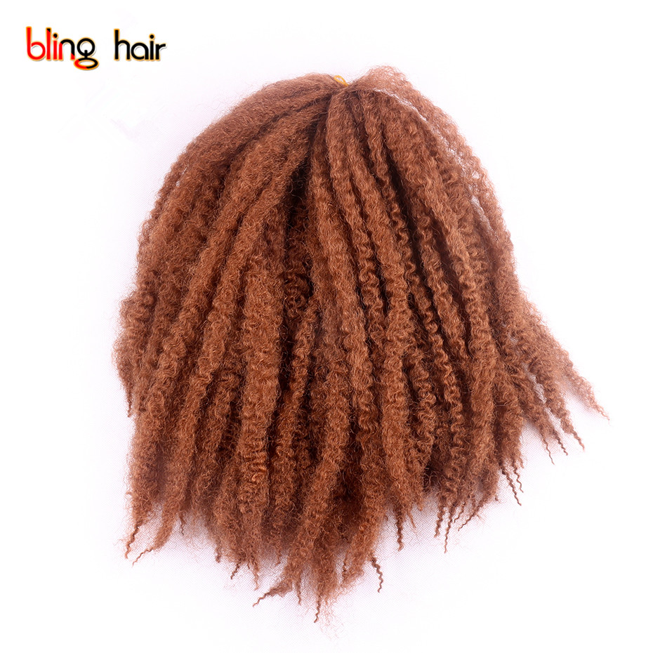Bling Hair Synthetic Marley Braids Hair Extensions 16 Inches 3pcs/pack 7 Colors 30strands/pack Crochet Braiding Hair