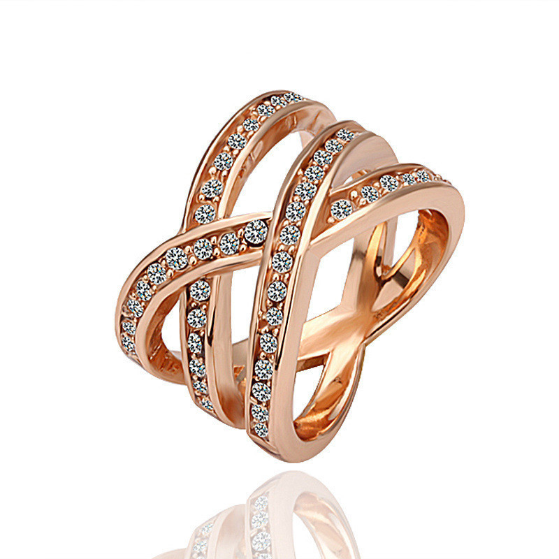Amazon Jewelry Alloy Crystal Lovers Ring, European and American Wind Accessories, Wholesale...