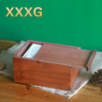 XXXG Retro Solid Wood Tissue Boxes Napkins Paper Wooden Sitting Room Tea Table Restoring Ancient Ways