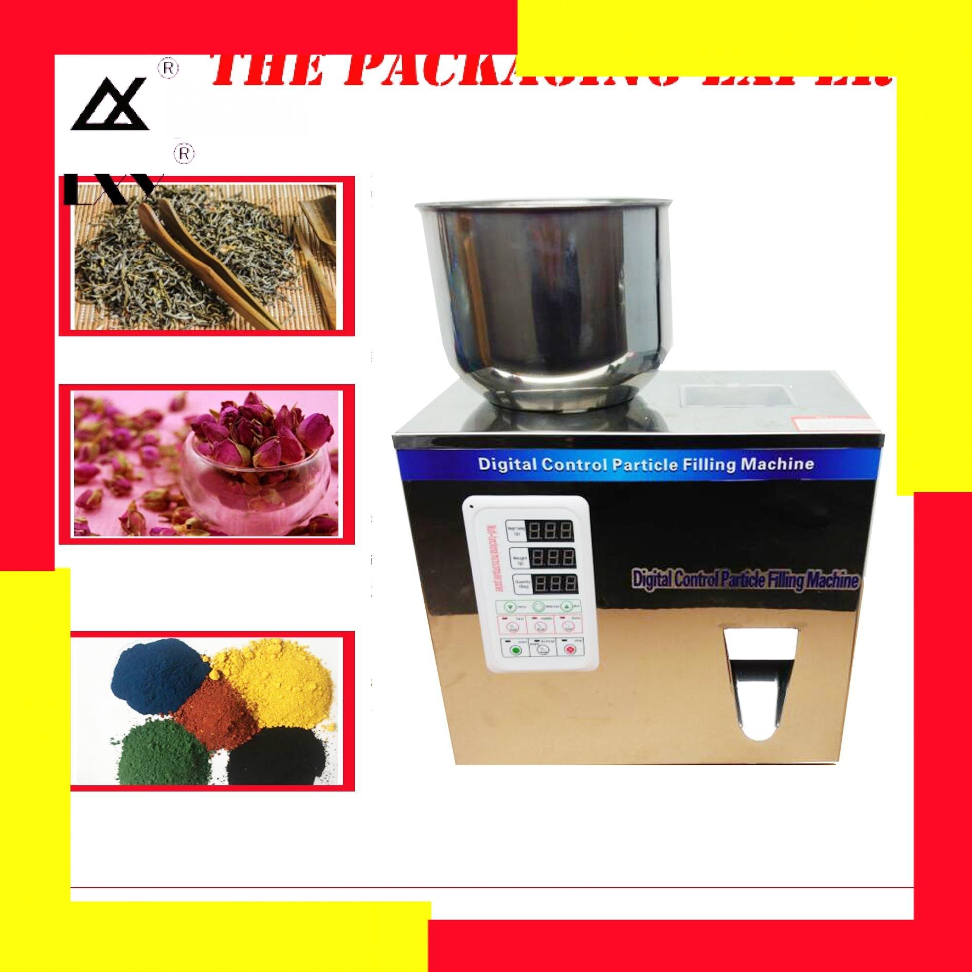 50g Scale Herb Seed Salt Rice Milk Powder Weighting Filling Racking Machine Tea Leaf Packing Capsule Food Flower Filler Doser