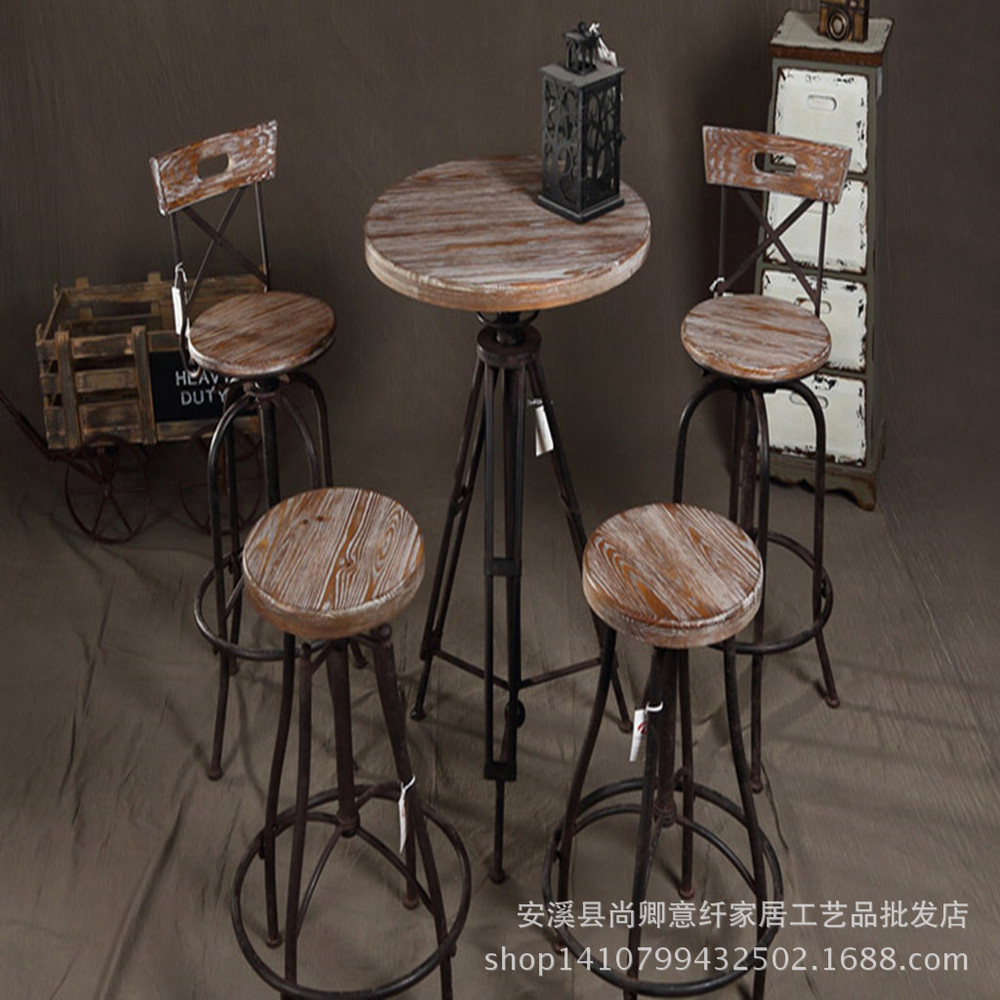 Coffee Tables And Chairs Iron Retro Wood To Do The Old Lift Font B Bar