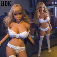 HDK 140cm (4.59 ft) Solid Silicone Sex Dolls Realistic Vagina Big Breast Ass Love Doll For Adult Sex Toys Sex Dolls Head