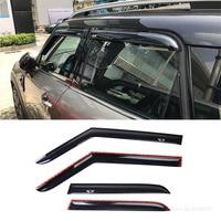 Fit For BMW Mini Cooper Countryman F60 2017 2019 Window Visor Sun Rain Wind Deflector Awning Shield Vent Guard Shade Cover 4Pcs