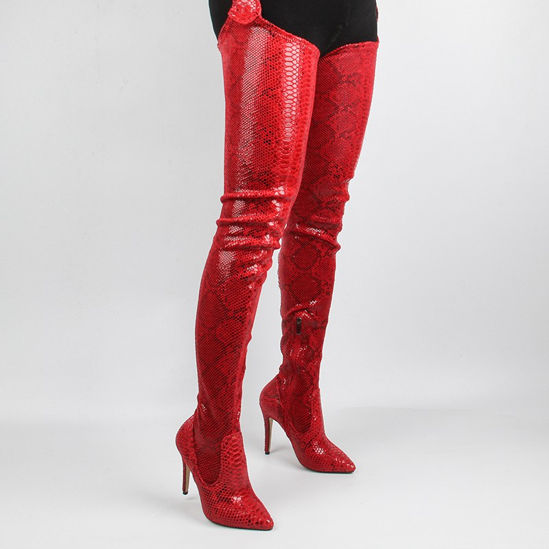 2019 Spring/autumn New <font><b>Fetish</b></font> Shoes Women <font><b>Extreme</b></font> Long Waist Botas <font><b>Sexy</b></font> Thin <font><b>High</b></font> <font><b>Heels</b></font> Rihanna Crotch Thigh <font><b>High</b></font> <font><b>Boots</b></font> image