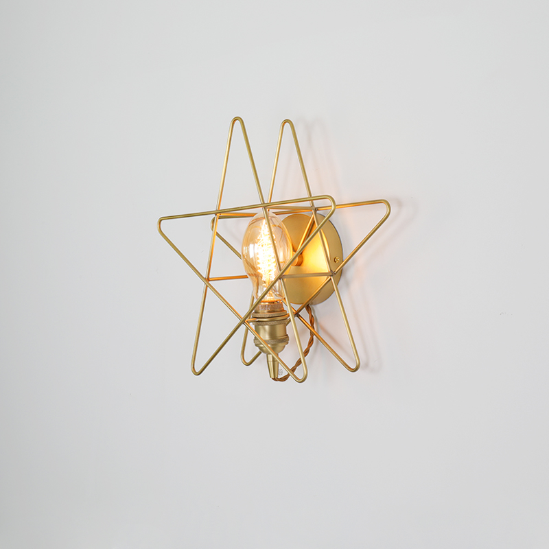 Retro Gold Led Iron Vintage Wall Lamp Bedroom Living Room Office Cafe Bedroom Bedside Lighting Wall Light Luminaria Kitchen Lamp in LED Indoor Wall Lamps from Lights Lighting