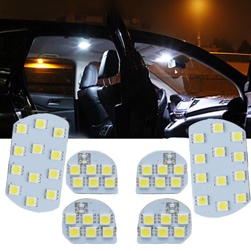 6 pcs Para PEUGEOT 206 308 3008 408 508 para a CITROËN C5 Brilhante Levou Luz de Leitura Interior Lâmpada Luz Interior estilo do carro