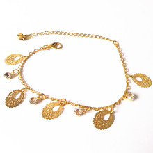 New Fashion Oval Leaves and Crystal Bracelet Little Bells Bracelets Gold  Silver Fine Bracelet Fine ankles Priced Direct Selling
