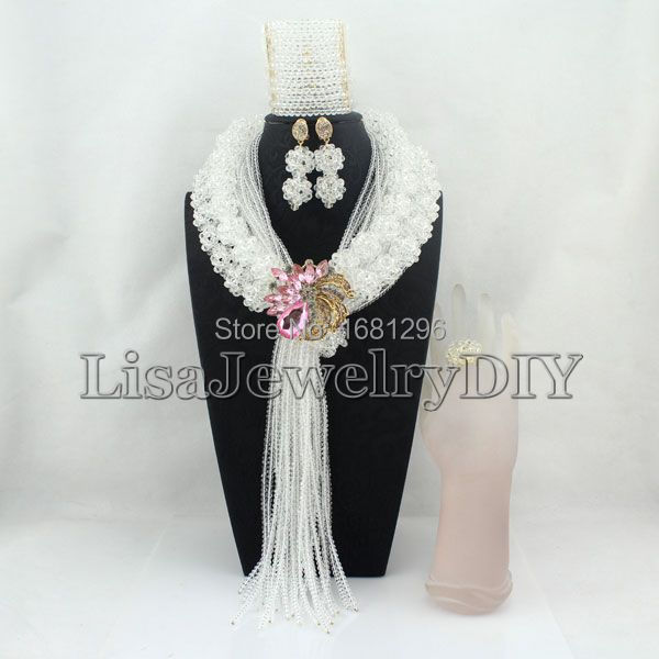 Statement Crystal Ball Costume Jewellery Nigerian Wedding African Beads Jewelry Set     HD0744Statement Crystal Ball Costume Jewellery Nigerian Wedding African Beads Jewelry Set     HD0744