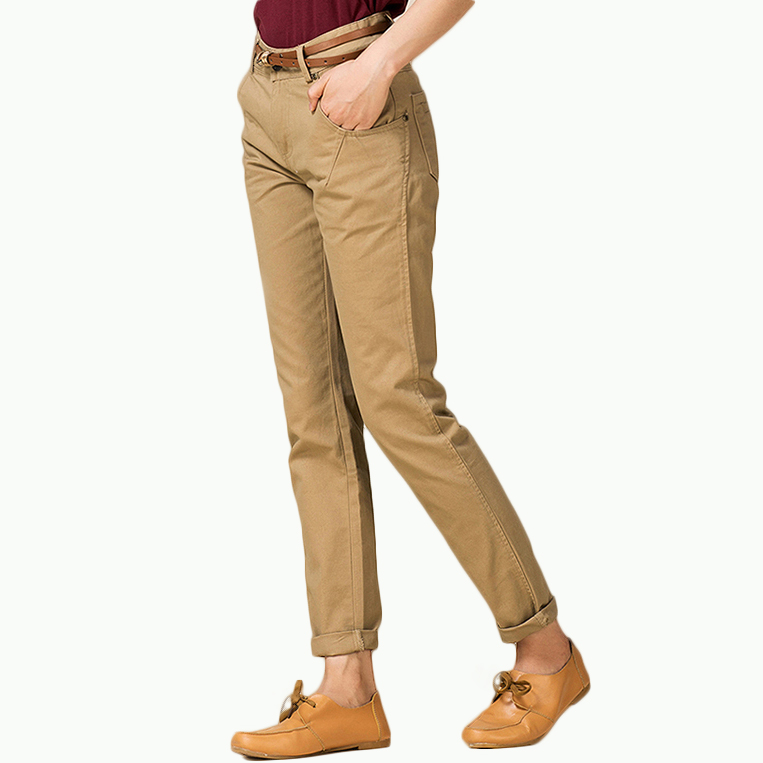 womens chino khaki pants - Pi Pants