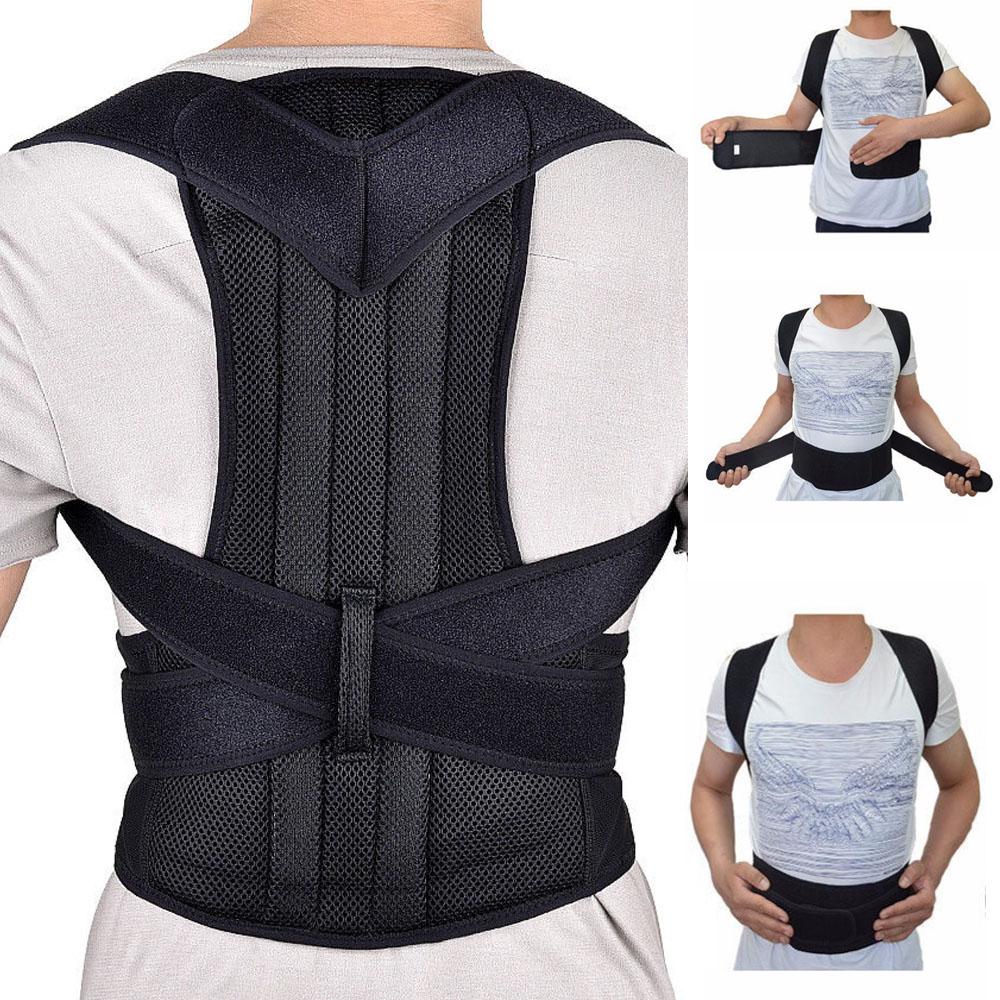 Steel Plate Orthopedic Posture Corrector Correction Lumbar Brace Shoulder Back Support Belt Corsets For Men Women Plus Size Pain