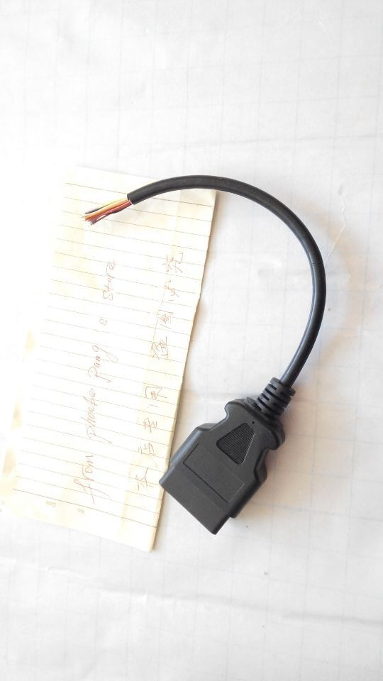 Высокое качество, 50 шт в наборе, OBD2 16Pin со штекерной розеткой, кабель Fly Ведущий OBD 2 16 контактный разъем провода с открытым концом