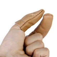 Set of 2pcs Leather Thumb Finger Protectors Guards Hand Craft Needle Pin Felting Tools