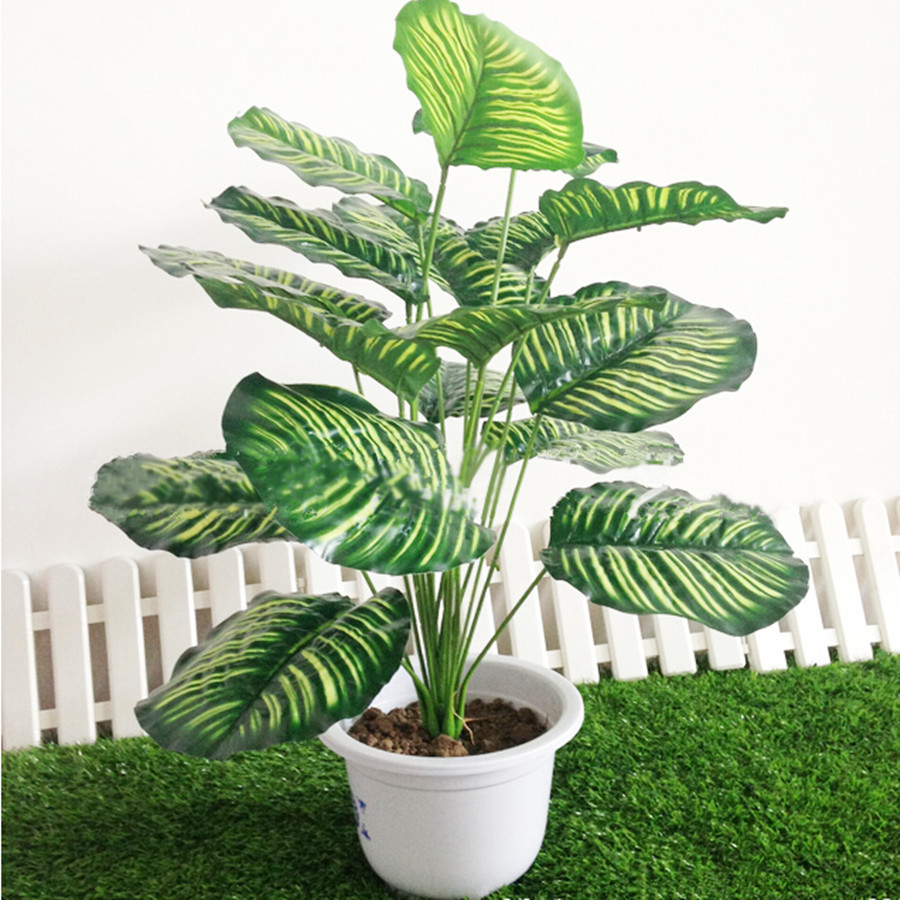 Artificial Plants Rohdea 18Leaves Fake Flowers Foliage Wedding Home Office  Decor In Skin Care From Beauty U0026 Health On Aliexpress.com | Alibaba Group