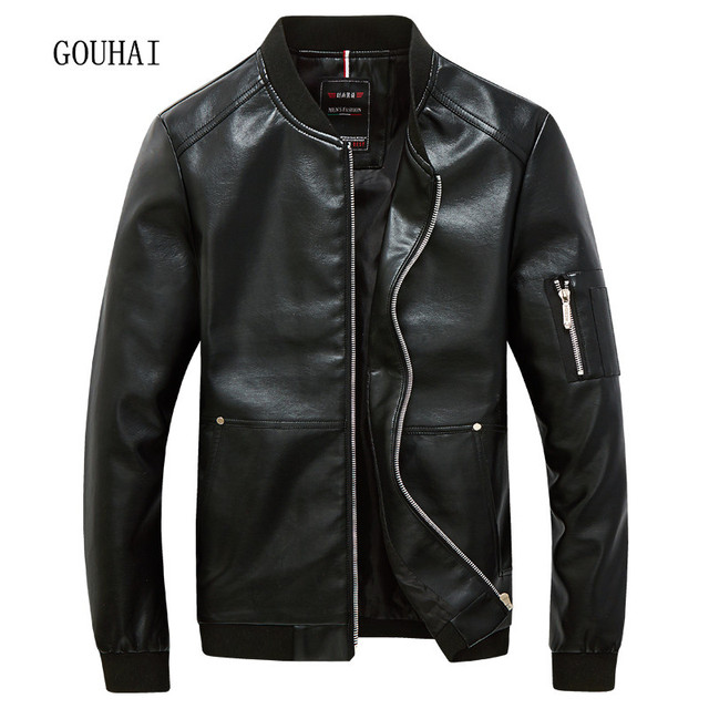 Men Leather Jacket Plus Size M-5XL Mens Casual Leather & Suede Man Leather Coats Jaqueta Couro Masculino Motorcycle Jacket Men