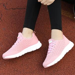 Image 5 - STQ 2020 Women Walking Flats Shoes Women Light Sneakers Mesh Tenis Feminino Casual Shoes Vulcanize Breathable Trainers Shoes 926