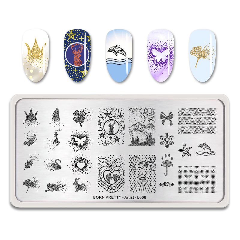 Image 5 - BORN PRETTY Nail Stamping Plates Rectangle Beauty Multi styles Nail Art Stamp Image Template Stencils Artist Manicure-in Nail Art Templates from Beauty & Health