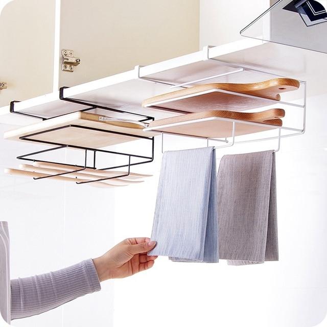 kitchen organizer ikea corner cabinet iron multifunctional pot lid shelf holder storage tool for towel rack cutting board accessory