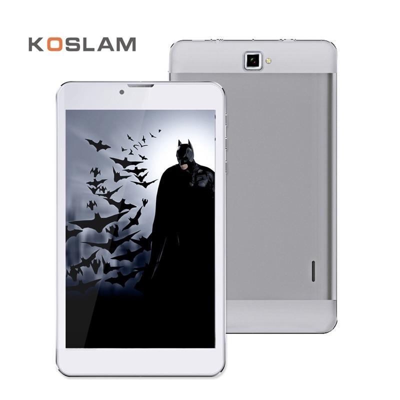 KOSLAM New 7 Inch Android Tablets PC Pad 1280x800 IPS Screen Quad Core 1GB RAM 8GB