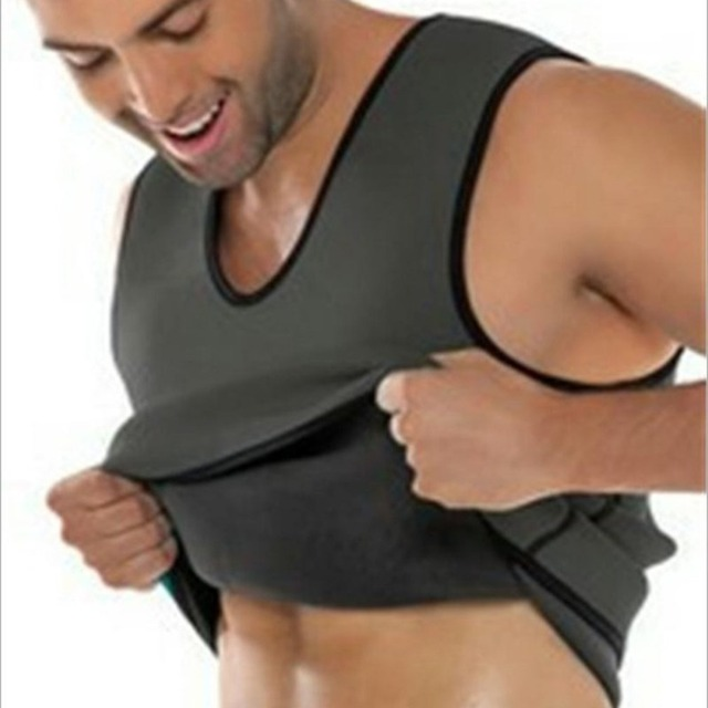 Sweat Sauna Body Shaper Men Slimming Vest Thermo Neoprene Trainer Sliming Waist Belt Durable And Comfortable Weight Loss Vest 2