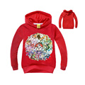 cute causal kids hoodie coat cartoon games Pokemon GO pattern soft cotton sweatshirt for 2-8yrs children boys girls tops clothes