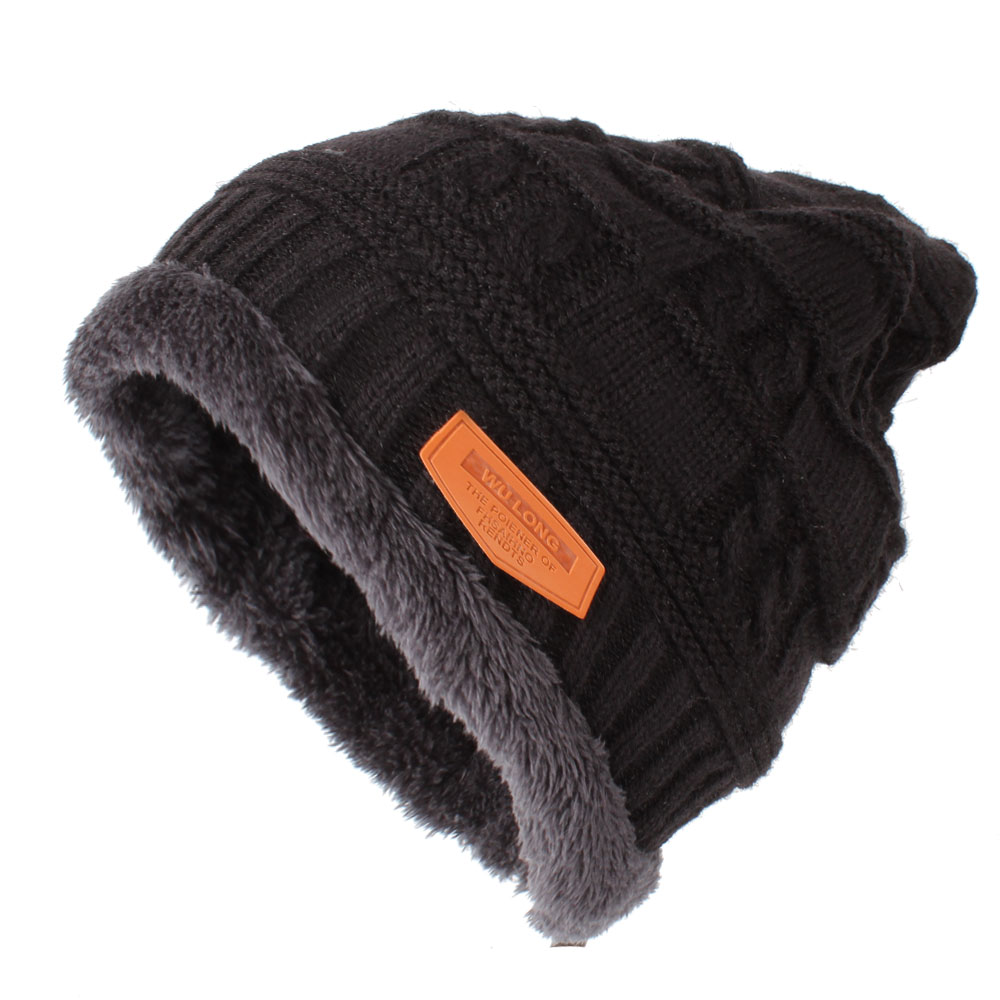 Fashion Women Men Winter Hat Knit Warm Skullies Beanies Caps For Dad Mask Double Thicker Layer Knitted Baggy Bonnet Caps animal printing new plus side men and women with the double layer of warm ladies pile heap cap skullies hat knitted hat stripe