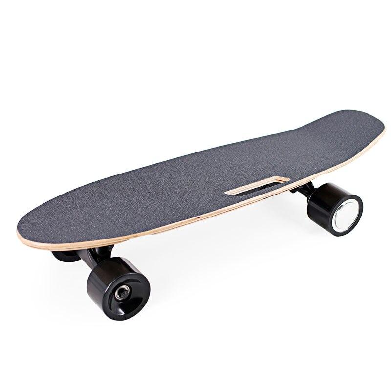 Portable 2019 planche à roulettes électrique adultes adolescents planche à roulettes avec télécommande Portable sans fil 65 cm x 20 cm Mini Longboard