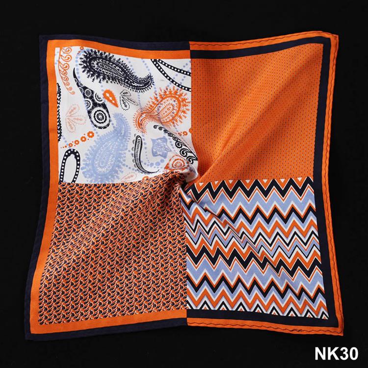 NK30 HN12N Orange Herringbone Paisley Dot (5)