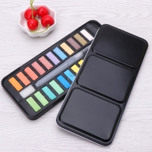 Watercolor-Paint-Set Drawing-Brush Acrylic Painting-Supplies Art Portable Solid 12/18/24-colors