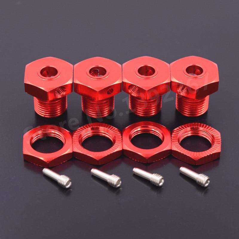 4 Pieces RC Car Upgrade Aluminum Alloy Wheel Hex Hub 17mm