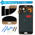 Para samsung galaxy j5 j500 lcd pantalla táctil digitalizador asamblea azul de oro + herramientas de envío gratis