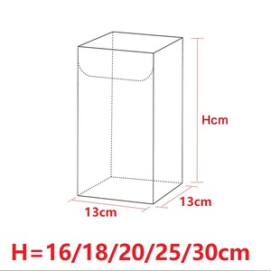 Image 2 - 13*13*Hcm Clear Square Wedding Favor Gift Box PVC Transparent Party Candy Bags Chocolate Boxes Packaging Cake Soap Display Box