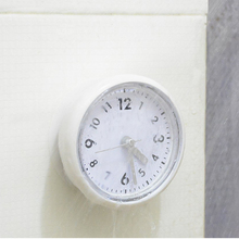 Silicone Bathroom Kitchen Shower Suction Clock Watch Waterproof Analog Silent Sweep