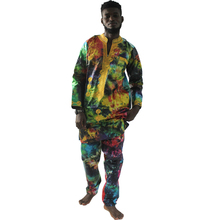 MD african suits for men traditional print cotton clothes tops and pants sets clothing set 2019 mens outfit