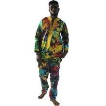 Мужские костюмы md в африканском стиле хлопковая одежда с традиционным