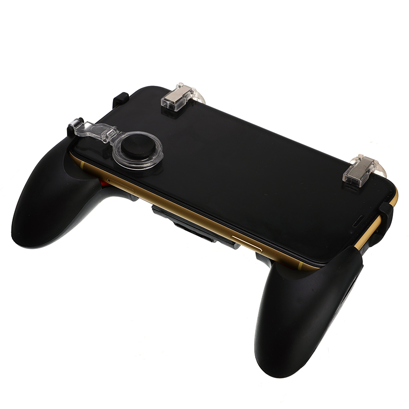 5 in 1 PUGB Mobile Game Pad Grip Free Fire L1R1 Joystick Triggers Moible Phone Controller Gamepad for iPhone Android Phone image