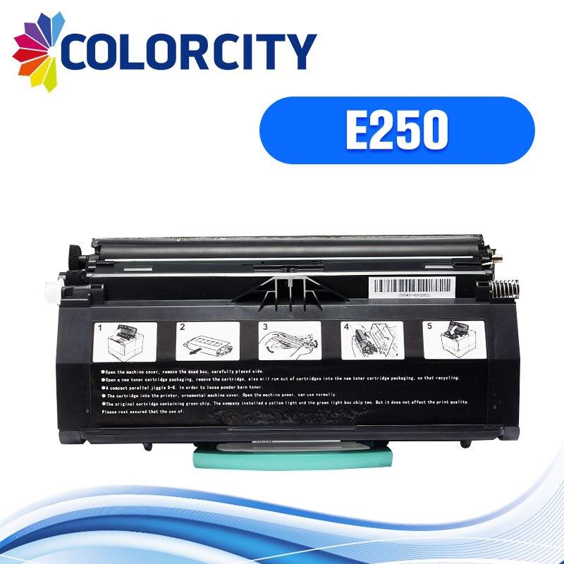 COLORCITY compatible toner cartridge replacement for Lexmark E250d E250dn E350 E352 E450 E450dn E250 E 250