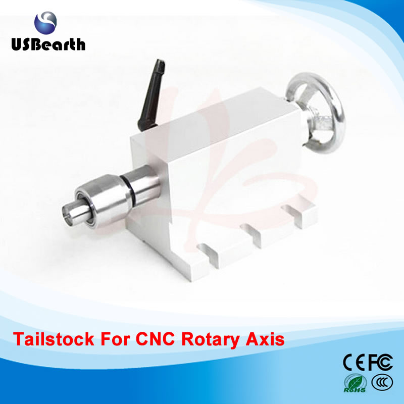 CNC Tailstock for Rotary Axis, A Axis, 4th Axis CNC Router Engraver Milling Tailstock-C cnc 5 axis a aixs rotary axis three jaw chuck type for cnc router