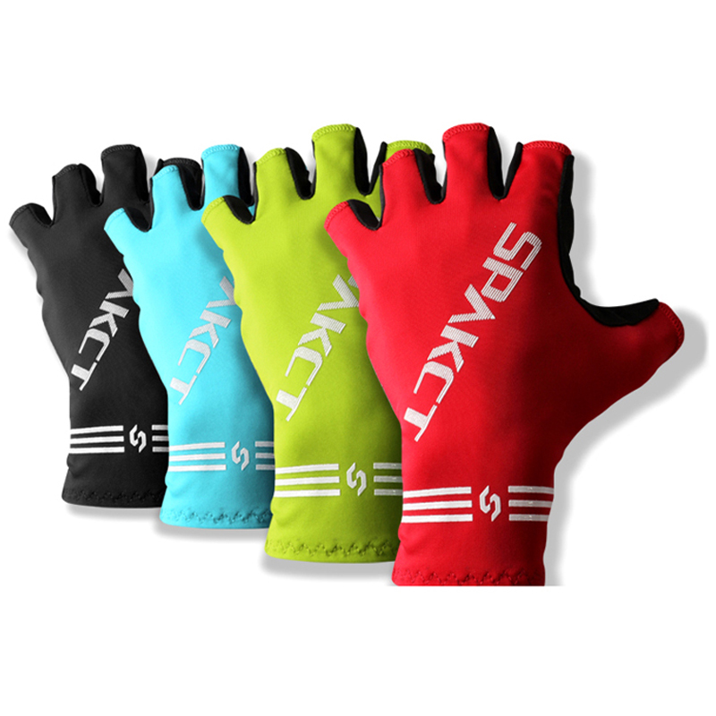 Spakct Summer Sporting Cycling Half Finger Gloves Road Bike Riding Gloves Red