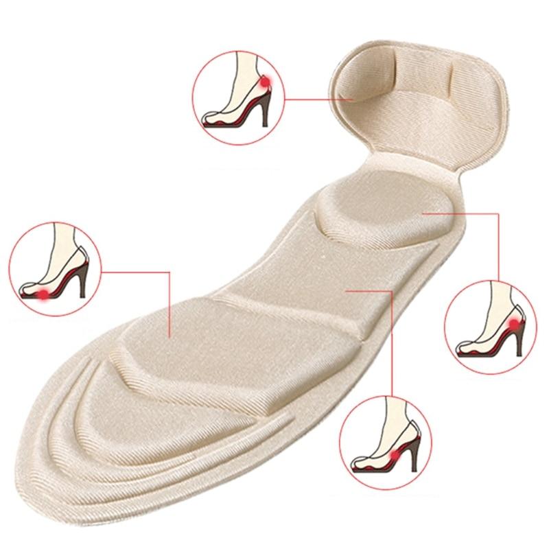 2 Pairs 3D Pads Scarpe Suola Morbida Schiuma Massaggio Tacchi Alti Avampiede Cuscino di Protezione2 Pairs 3D Pads Scarpe Suola Morbida Schiuma Massaggio Tacchi Alti Avampiede Cuscino di Protezione