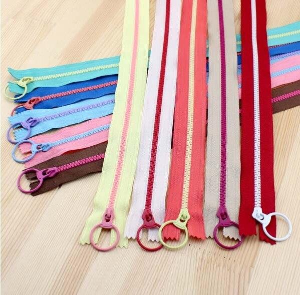 Home & Garden Ykk3 Resin Zipper Big Circle Slider Bags Color Block 10 30cm Long Apparel Sewing & Fabric