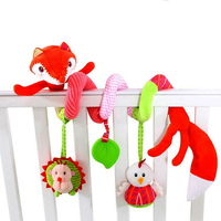 Newborn Soft Infant Crib Bed Stroller Toy Spiral Baby Toys Car Seat Hanging Educational Rattle Toy For Birthday Christmas Gift