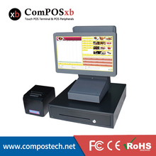 ComPOSxb Pos System 15.6 Inch Touch Screen Dual Computer monitor POS1516D waterproof For pos supermarket system