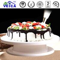 2017 לבן צלחת מסתובבת עוגת כלים אפיית פטיפון מסתובבת עוגת פטיפון קישוט Stand פלטפורמה