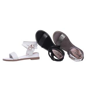 Image 2 - Smirnova 2020 dété nouvelles chaussures femme Décontracté sandales à talons compensés femmes talons en cuir véritable chaussures femmes boucle grande taille 34 43