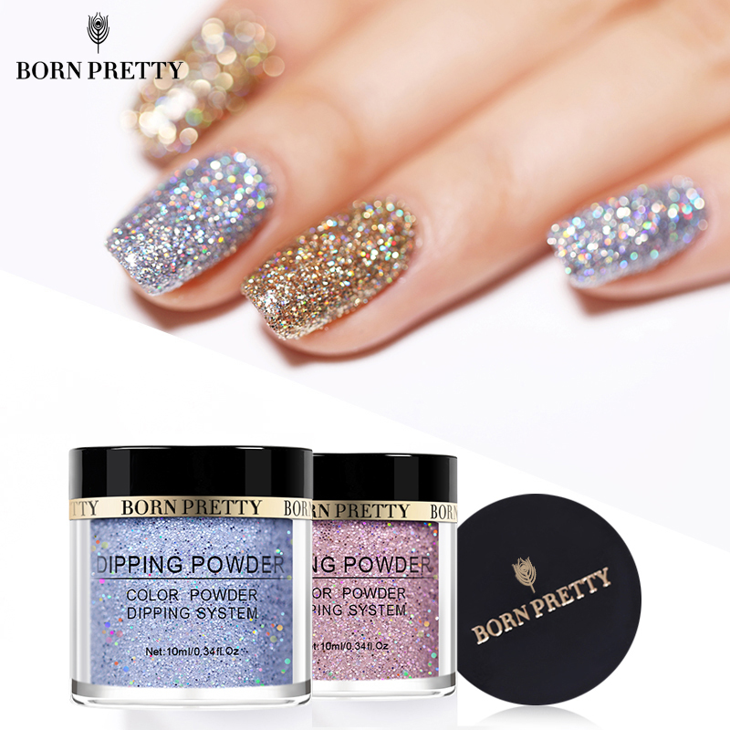 BORN PRETTY Holographic Dip Nail Powders Gradient Dipping Glitter Decoration Lasting than UV Gel Natural Dry Without Lamp Cure(China)