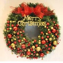 Christmas decorations Christmas wreaths red fruit bow ornaments window arrangement festive door hanging wreath Christmas gift