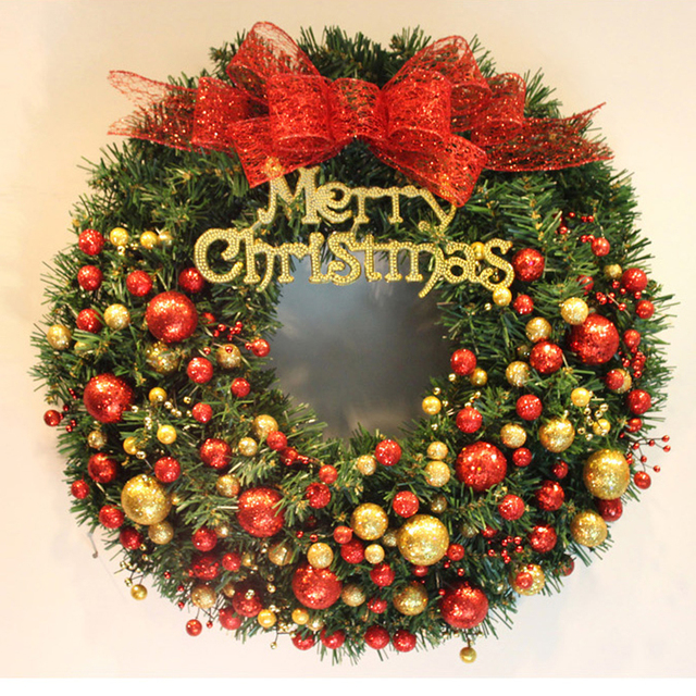 christmas decorations christmas wreaths red fruit bow ornaments window arrangement festive door hanging wreath christmas gift