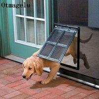 Cão de Estimação Gato Gatinho de Plástico com fecho de Segurança Da Porta para a Janela de Tela Portões Flap Túnel Pet Cerca Do Cão Livre Acesso Porta para Casa