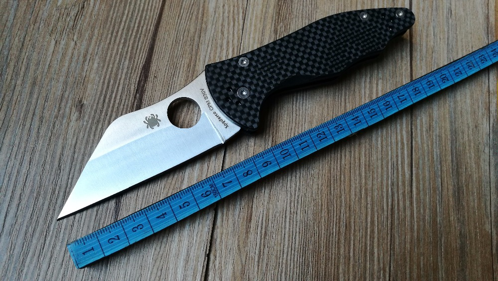 High quality Custom Yojimbo 2 C85 font b Knife b font Carbon Fiber Handle D2 Blade
