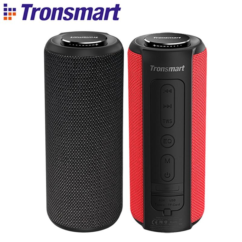 Tronsmart T6 Plus Bluetooth Lautsprecher 40W Tragbare Lautsprecher Tiefe Bass Soundbar mit IPX6 Wasserdicht, Power Bank Funktion SoundPulse